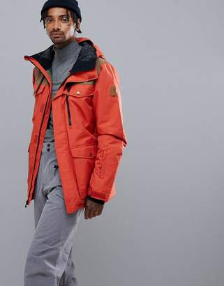 Quiksilver Raft Ski Jacket in Ketchup Red