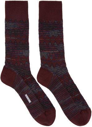 Missoni Red Print Socks $85 thestylecure.com