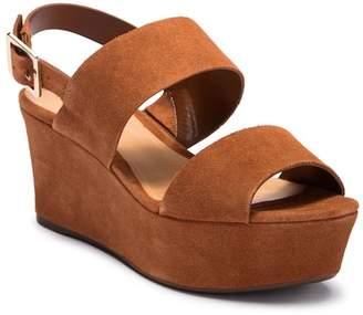 Schutz Fankia Platform Leather Wedge Sandal