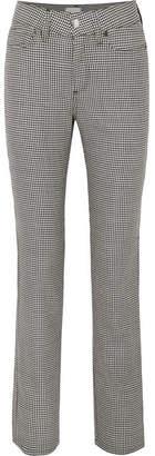 Simon Miller Tama Houndstooth Wool Slim-leg Pants - Black