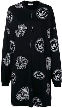 McQ printed sweatshirt dress