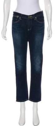 Henry & Belle Mid-Rise Straight-Leg Jeans