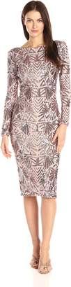 Dress the Population Women's Emery Sequin Midi