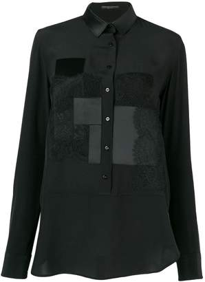 Ermanno Scervino lace patchwork design shirt