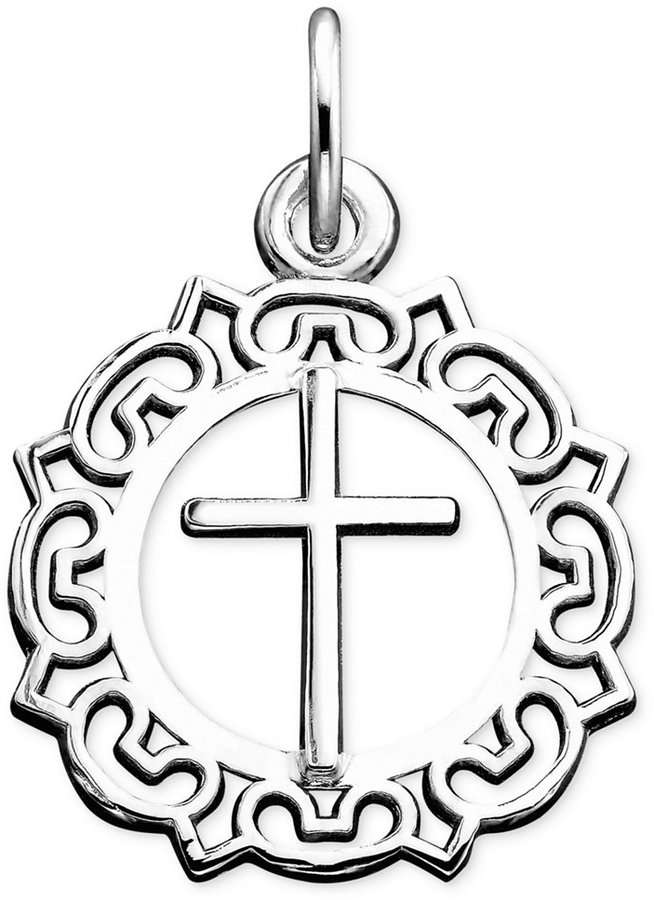 Rembrandt Charms Sterling Silver Cross Charm