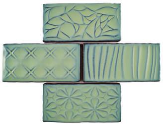 EliteTile SAMPLE - Antiqua Sensations Ceramic Subway Tile in Green