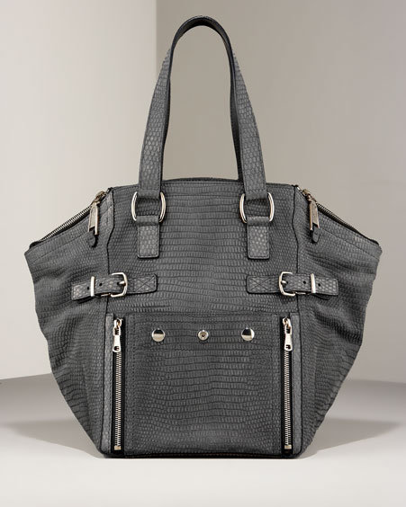 Yves Saint Laurent Downtown Lizard-Embossed Tote
