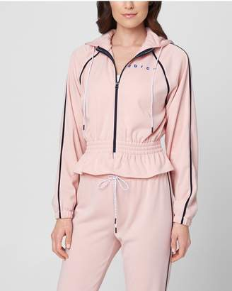Juicy Couture JXJC Interlock Cinched Waist Track Jacket