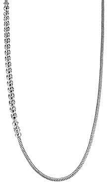 John Hardy Chain Silver Foxtail & Cable Necklace