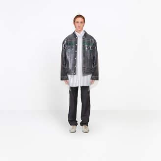 Balenciaga Classic denim jacket bonded in a plastic film