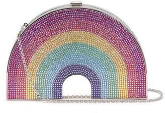 Judith Leiber 'Rainbow Shimmer' crystal pavé minaudière