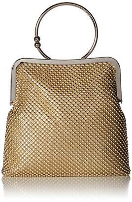 Jessica McClintock Jill Framed Mesh Pouch with Ring Handle