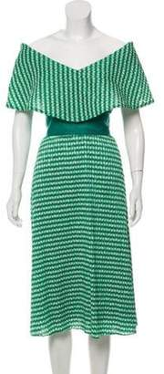 Lela Rose Pleated Crepe Dress w/ Tags green Pleated Crepe Dress w/ Tags