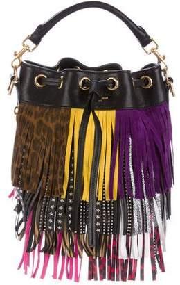 Saint Laurent Emmanuelle Fringe Bucket Bag