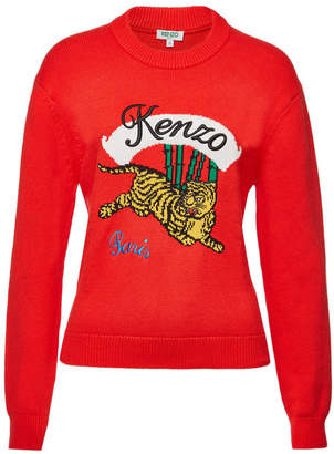 Kenzo Cotton Sweater with Logo Embroidery