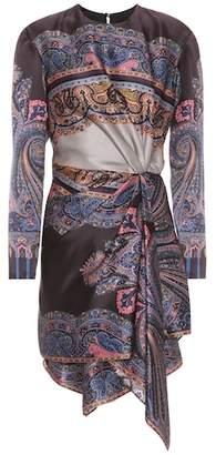 Etro Printed silk-satin dress