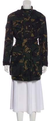 Burberry Printed Belted Coat