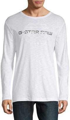 G Star Men's Logo Long-Sleeve Shirt