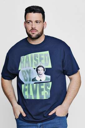boohoo Big And Tall Raised By Elves License T-Shirt