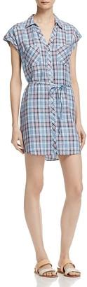 Soft Joie Safia Belted Plaid Shirt Dress $198 thestylecure.com