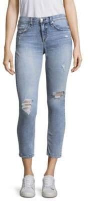 Rag & Bone Slight Distressed Light-Wash Ankle Skinny Jeans
