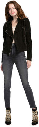 Alice + Olivia Miles Suede Moto Jacket