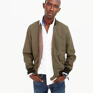 Wallace & Barnes garment-dyed cotton MA-1 bomber jacket $148 thestylecure.com