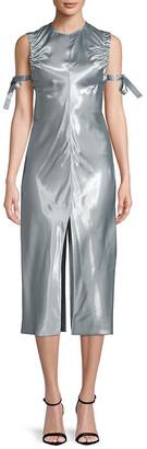 Helmut Lang Ruched Midi Dress