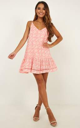 Showpo Make Believe Dress in rose print Casual Dresses