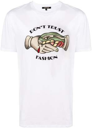 Roberto Cavalli Don't Trust Fashion T-shirt
