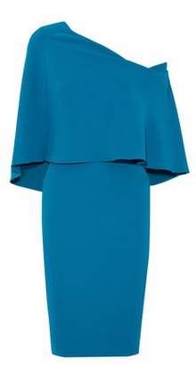 Roland Mouret One-Shoulder Fluted Crepe Dress