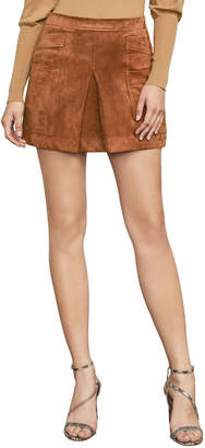 BCBGMAXAZRIA Corinne Faux-Suede Mini Skirt
