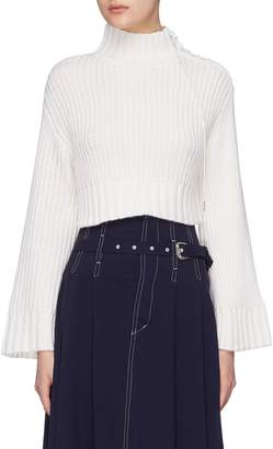 Dion Lee Lace-up shoulder oversized cropped sweater