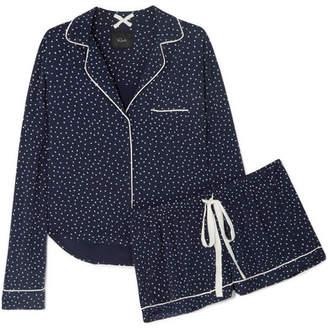 Rails Printed Voile Pajama Set - Storm blue