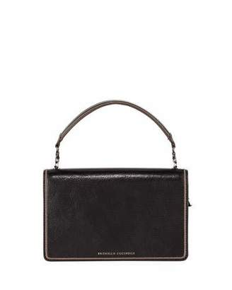 Brunello Cucinelli Small Leather Top-Handle Crossbody Bag