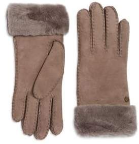 UGG Classic Suede and Fur Gloves
