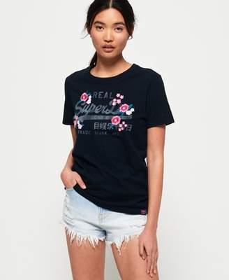 Superdry Vintage Logo Embroidered Floral T-shirt