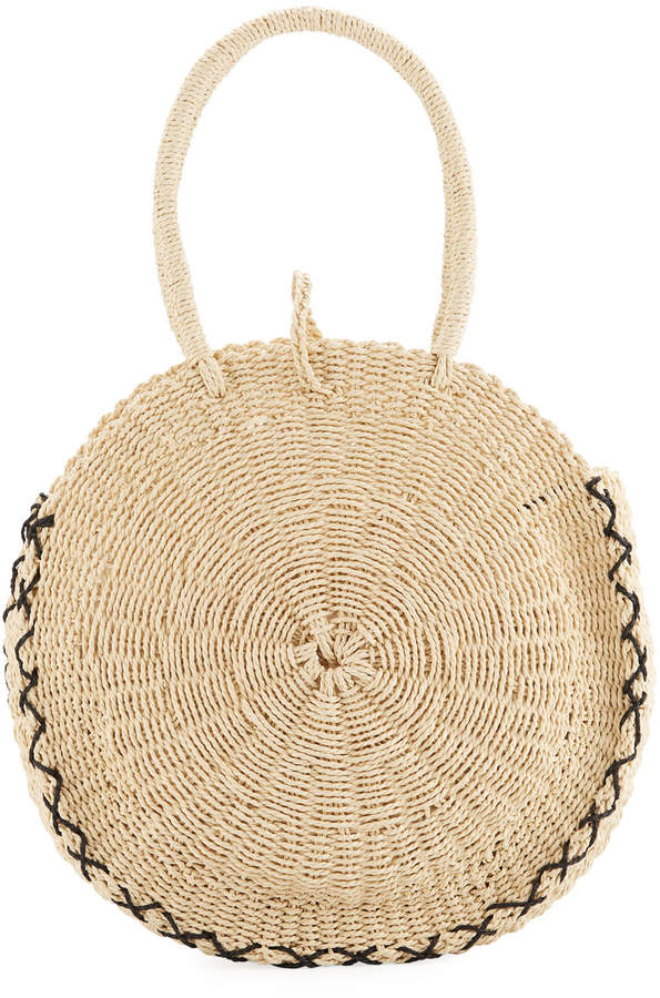 Seafolly Carried Away Round Beach Basket Tote