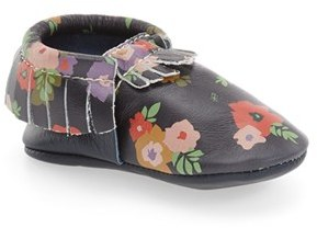 Infant Girl's Freshly Picked Flower Print Moccasin $60 thestylecure.com