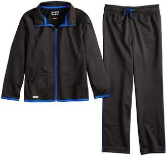 Boys 4-12 Jumping Beans Active Tricot Zip Track Jacket & Pants Set