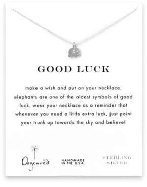 Dogeared Elephant Charm Necklace