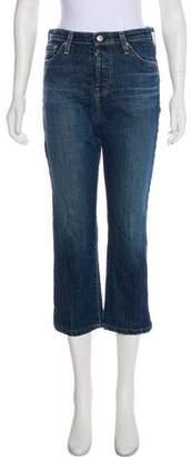 ALEXACHUNG x AG High-Rise Straight-Leg Jeans