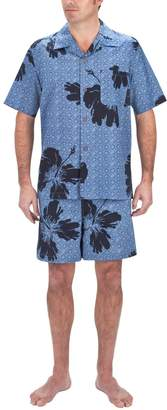 Trunks Big & Tall Residence Floral Camp Shirt and Swim Set