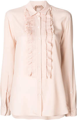No.21 ruffle bib button-down blouse