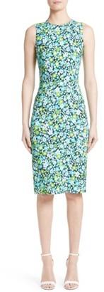Women's Michael Kors Floral Print Sheath Dress $1,695 thestylecure.com