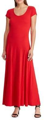 Lauren Ralph Lauren Cap-Sleeve Maxi Dress