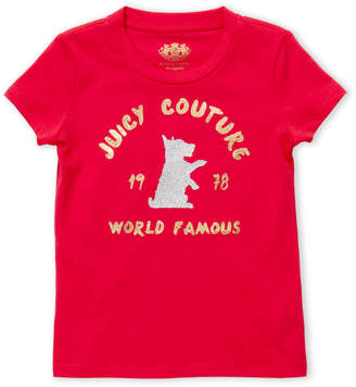 Juicy Couture Girls 4-6x) World Famous Logo Tee