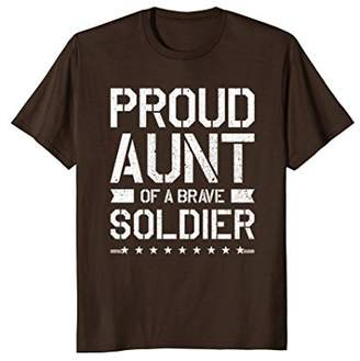 Proud Aunt T Shirt Military Gift For Aunt Soldier TShirt