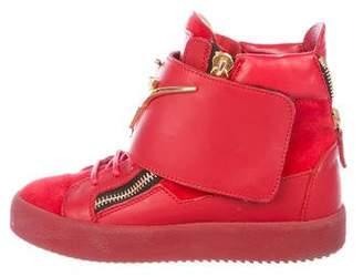 Giuseppe Zanotti Logo High-Top Sneakers
