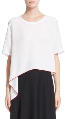 Women's Colovos Asymmetrical Silk Tee $575 thestylecure.com